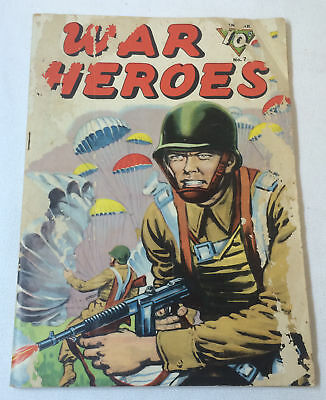 1944 Dell WAR HEROES #7 ~ WWII comic