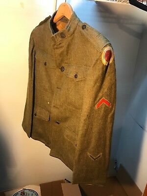 WW1 US 37th Infantry Division Uniform Patched (B144
