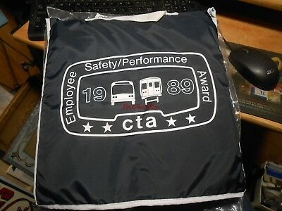Vintage CTA Chicago Transit Authority 1989 Employee Safety Award Seat Cushion