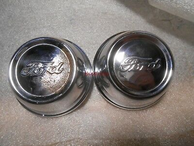 """Pair of Vintage Ford Model A 3"""" Hub Cap Grease Caps"""