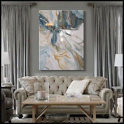 Abstract Painting Modern Canvas Wall Art, Large, Framed, Signed, US ELOISExxx