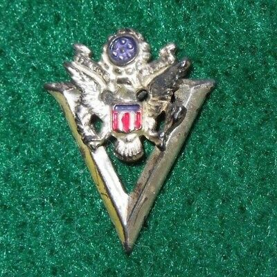 WWII US Army V For VICTORY Sweetheart Home Front Pin