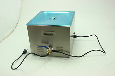 Tek Motion Stainless Steel Ultrasonic Jewelry Cleaner with Heater Timer 15L