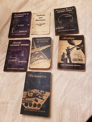Lot of Vintage Narpers Books / Manuals World War II ww2 usn navy