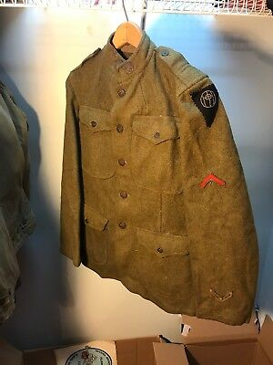 WW1 US 83rd Infantry Division Uniform And Pants French Made Patch (B150