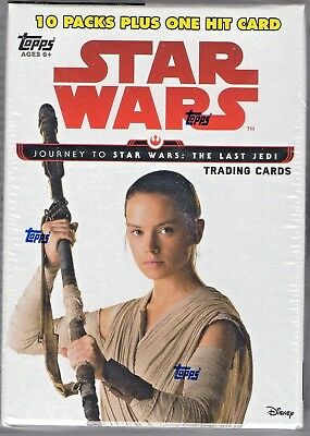 Star Wars Journey to the Last Jedi 2017 Topps 61 Card Blaster Box - Sealed