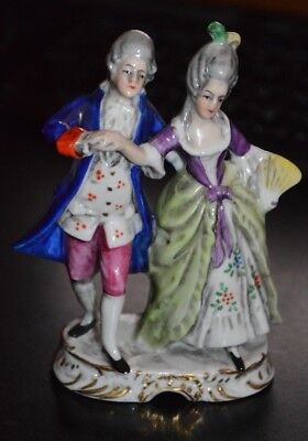 Porcelain Figurine Germany Victorian Couple Dancing 4.25""