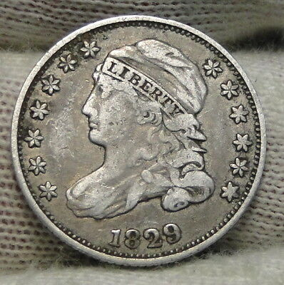 1829 Capped Bust Dime 10C 10 Cents - Nice Old Coin, Free Shipping  (7741)