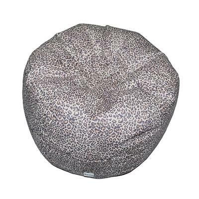 Boscoman - Teen Round Animal Print Bean Bag - Leopard