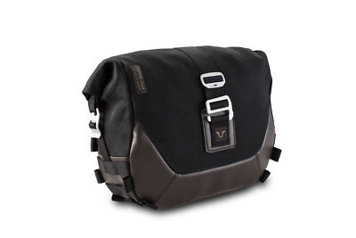 Nera Motech Legend Gear Borsa da Sella 9,8 L SX Incluso Supporto Nero Marrone