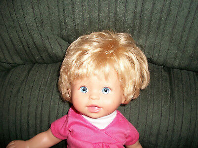 Fisher Price Blonde Little Mommy Play All Day Interactive Doll  2007