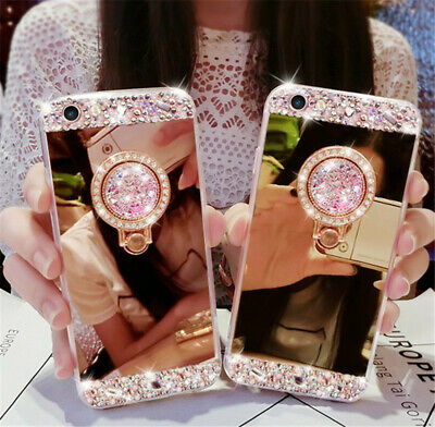 For iPhone Xs Max XR 8 7 Plus Case Bling Crystal Glitter Diamond Mirror Covers