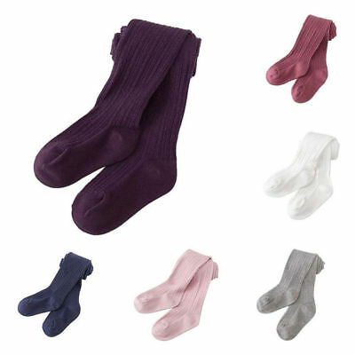 Baby Girls Kids Solid Warm Cotton Tights Stockings Pantyhose Pants Socks Lovely