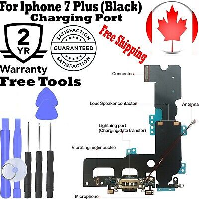 For iPhone 7 Plus Dock Connector Charging Port & Mic Flex Replacement Black