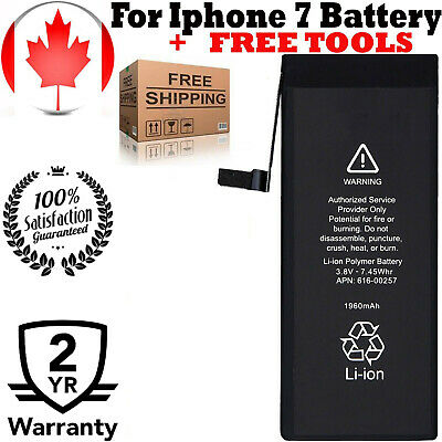 NEW iPhone 7 Replacement Battery 616-00258 1960mAh with FREE TOOLS