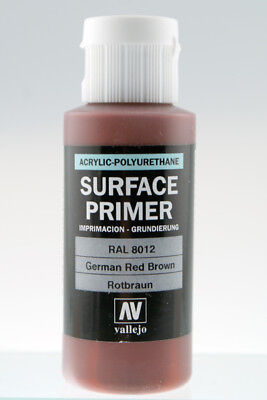 Vallejo 60ml Acrylic German Red Brown Primer RAL8012 # 73605