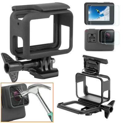 For GoPro HERO 7 6 5 Black Protective Cover Case Shell Mount Screen Film Glass U