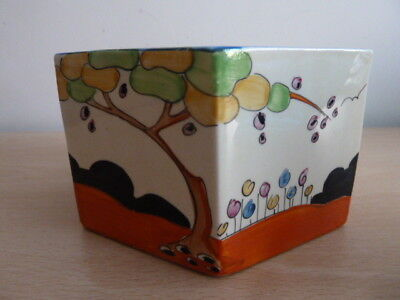 Unusual Five Sided Clarice Cliff Bowl - Tulips Pattern