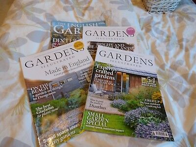 GARDENS ILLUSTRATED / ENGLISH GARDEN - JOB LOT / SET / BUNDLE x 4 COPIES 2018