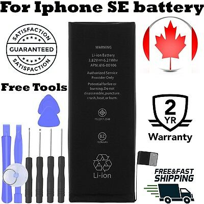 [0 Cycle] Brand New  Replacement Battery for iPhone SE 1624mAh + Tools Kit