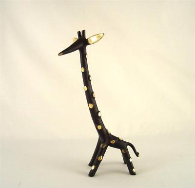 Walter BOSSE Large and Beautiful GIRAFFE WITH DOTS patinated brass 170mm Vienna
