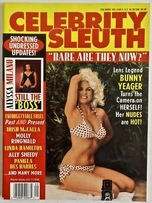 Complete 1996 Vol.9 #9 Celebrity Sleuth Magazine Bunny Yeager Pin-Up Pictorial