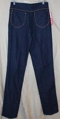 Vintage 1980's Gitano gold beaded trim high waist jeans size 15/16 New w/tags