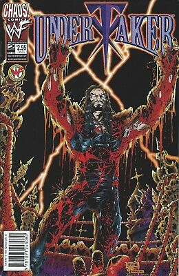 Undertaker Wwf/wwe Wrestling Licensed Chaos Comic Book #2 New