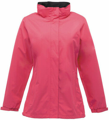 Regatta Ardmore Womens Waterproof Jacket Pink Ladies Coat Casual Outdoors