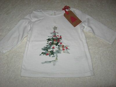 CHRISTMAS TOP New Next 3-6 6-9 9-12 12-18 months Xmas Tree BNWT Girls Jumper