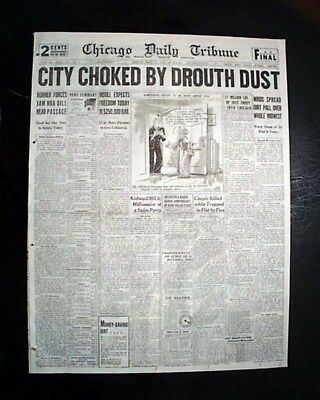 DUST BOWL Midwest Wind Storm Farming Crops Lost SEVERE DROUGHT 1934 Newspaper