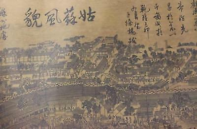 Chinese Collection Old Paper Painting Landscape Scroll Painting