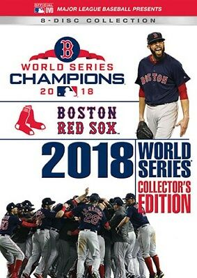BOSTON RED SOX 2018 WORLD SERIES COLLECTOR'S EDITION New 8 DVD Set All Games