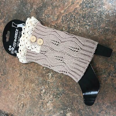 f3c96a1a7ee US Women Crochet Knitted Stocking Leg Warmers Boot Cover Lace Legging Socks  L.GN