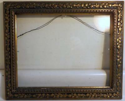 """Antique Victorian Era 13x16"""" Frame w Glass Hold 10x13"""" Picture or Mirror c1880s"""