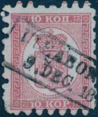 Finland Sc5 Serpentine Roulette 10 Kop Used Uleaborg 82799