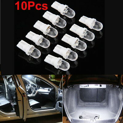 10Pcs White LED 12V 5W T10 194 168 158 W5W 501 Side Car Wedge Light Lamp Bulb