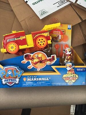 Paw Patrol Flip & Fly Marshall Fire Mighty Pups Transforming Vehicle New Walmart