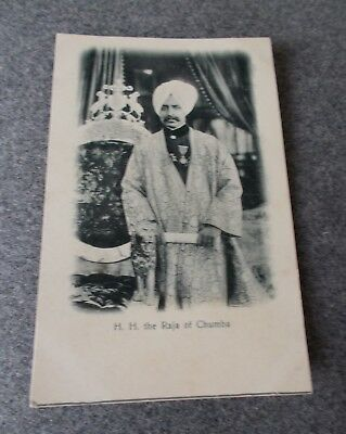 Vintage Indian India Postcard  H H The Raja Of Chumba Bremner Lahore