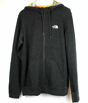 North Face Womens Renan Hoodie Dark Gray Heathered Size L