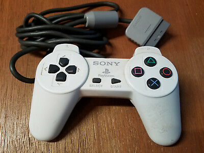 Official Sony Controller - SCPH-1080 - PlayStation PS1 - WHITE ^