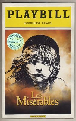 """""""Les Miserables""""   OPENING NIGHT   Playbill   2006    REVIVAL   Norm Lewis"""
