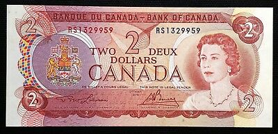 1974 Canada $2 Two Dollar Bill - RARE Prefix RS Test Note Choice UNC, Book $700+