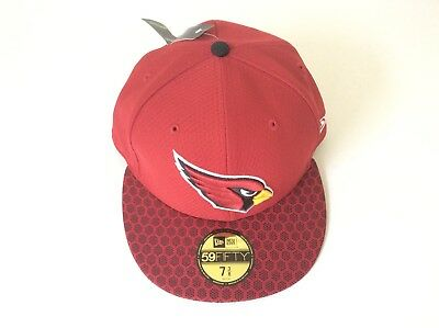 Arizona Cardinals New Era 59FIFTY 2017 On Field Sideline RED FITTED HAT Sz  7 3  b04c83667