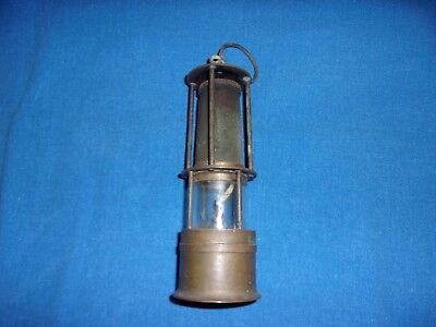 Scarce Miniature Brass Whale Oil Coal Mine Mining Miners Safety Lamp
