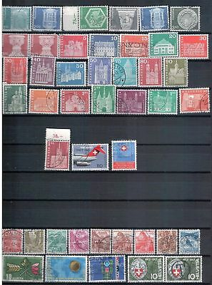 SWITZERLAND - Mixed lot of 43 Stamps, most Good - Fine Used