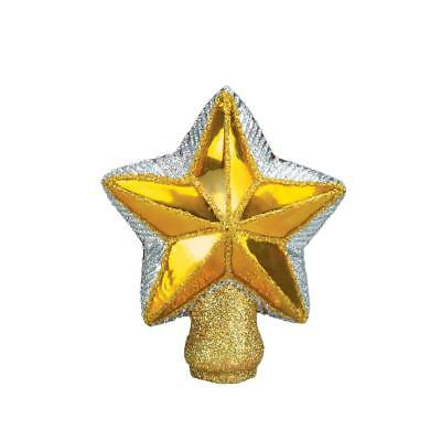 Old World Christmas Small Radiant Gold Star Mouth Blown Glass Tree Topper 50007