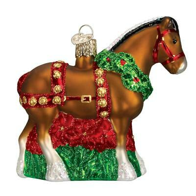 Holiday Clydesdale Glass Old World Christmas Ornament Decoration 12255 FREE BOX
