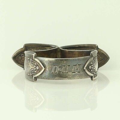 Vintage Gee Esco Footed Napkin Ring - Silver Plate Monogrammed