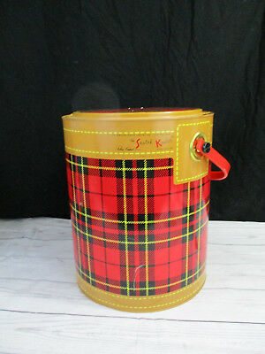 Vintage The Skotch Kooler Picnic Cooler Red Plaid 4 Gallon Deluxe Petta Cabot